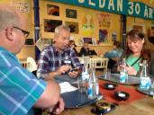 Lunchdags: Bo Langtorp, Bengt Schmeling och Annica Hallberg