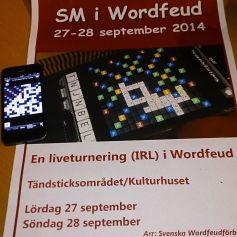 SM i Wordfeud 2014 i Jönköping