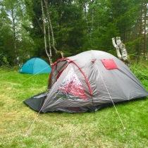 ... ej heller campingavgifter. Sängplatserna tog slut ...