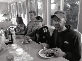 Jessica, Anders, Nils d.y. och Janne.