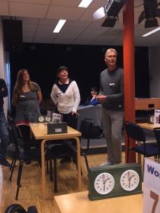 Jessica Käll, förbundets sekreterare Eva-Lothe Madsen och ordförande Thomas Madsen.